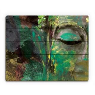 Emerald Buddha Abstract Wall Art Print on Wood