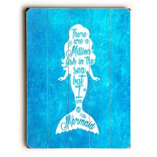 But I Am A Mermaid Blue Ocean - Blue Wall Decor by OBC