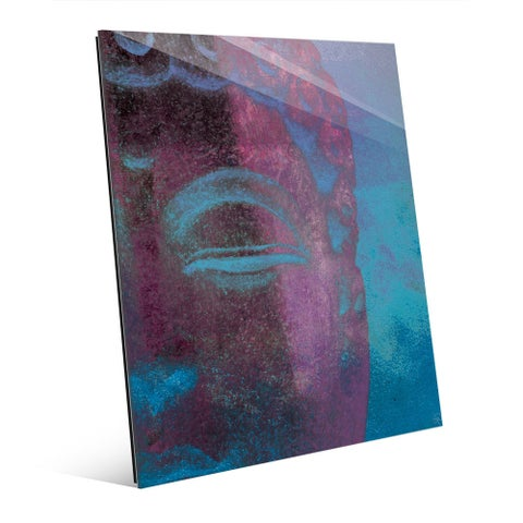 Art and Photo Decor 'Cerulean Buddha'Abstract Glass Wall Art Print