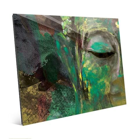 Painted Buddha Abstract Wall Art Print on Glass