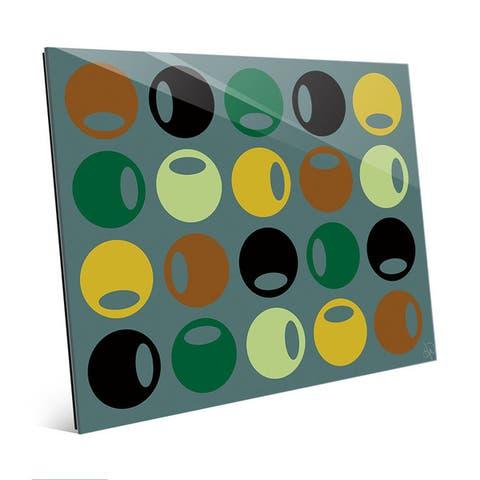 Somber Knobs Mod Wall Art Print on Glass