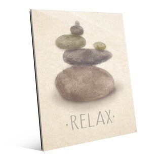 Relax and Peace Beige Wall Art Print on Acrylic