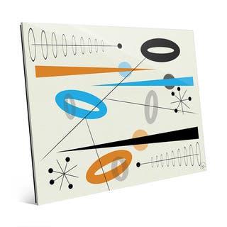 Sky Citrine Jazz Mod Art Wall Art Print on Acrylic