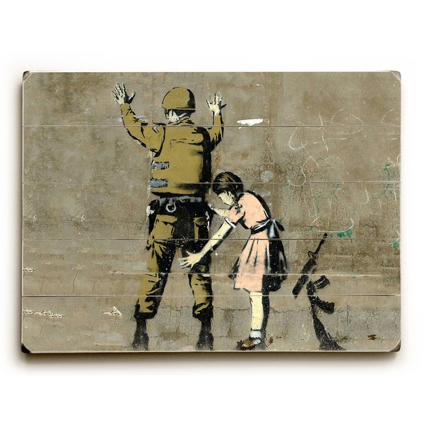 Checkpoint Pigtails - Tan Wall Decor by Banksy
