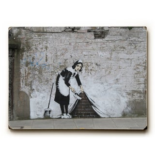 Under The Rug - Wood Wall Decor by Banksy