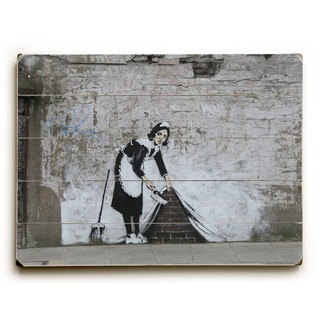 Under The Rug - Grey Wall Decor by Banksy - Multi