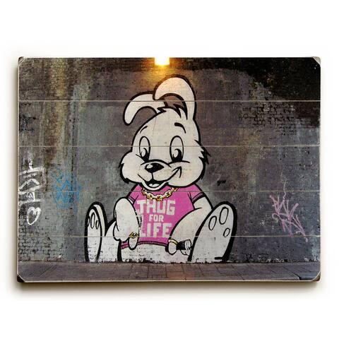 Thug For Life - Grey Wall Decor by Banksy