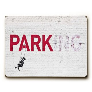 Parking - Wood Wall Decor by Banksy
