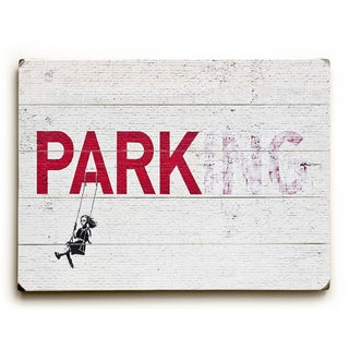 Parking - White Wall Decor by Banksy