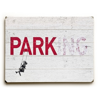 Parking - White Wall Decor by Banksy - Red/White