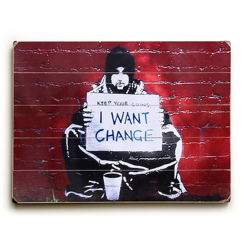 Keep Your Coins - Red Wall Decor by Banksy - Multi