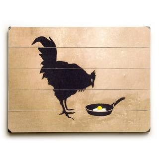 Chicken And Egg - Tan Wall Decor by Banksy