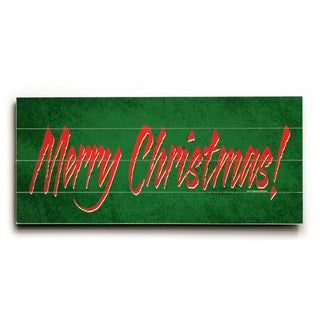 Merry Christmas - Wood Wall Decor by Drew Patterson