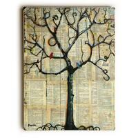Winterlight Tree - Wood Wall Decor by ArtLicensing - Blenda Tyvoll