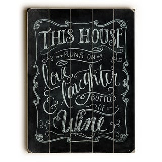 Love Laughter & Wine - Wall Decor by Robin Frost