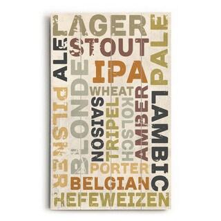 Beers - Wood Wall Decor by ArtLicensing