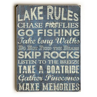 Lake Rules - Wall Decor by ArtLicensing