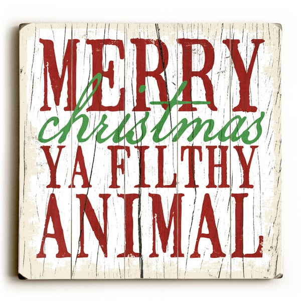 Merry Christmas - Wood Wall Decor by Misty Diller - multi