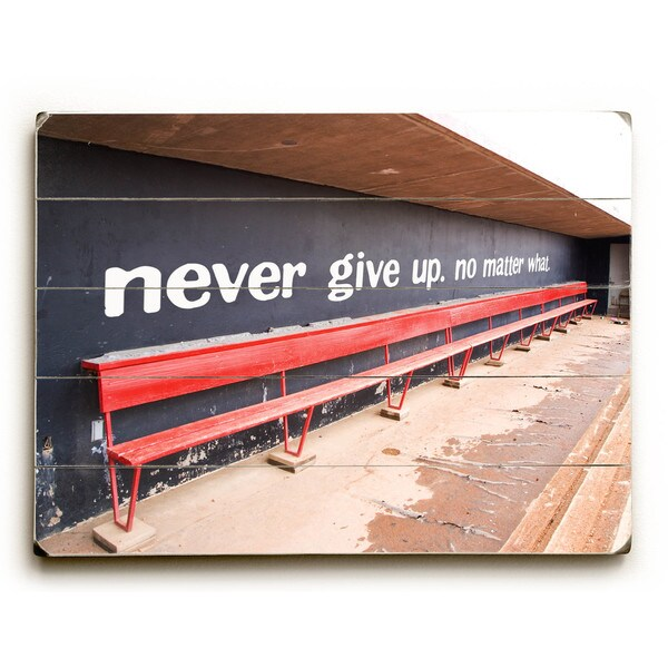Never Give Up - Wall Decor by William Biggerstaff Photograph - Multi