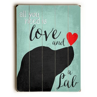 Love and a Lab - Wall Decor by Ginger Oliphant