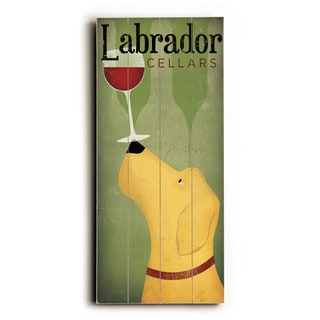 Labrador Wine Dog - Wood Wall Decor by Ryan Fowler - Multi-Color