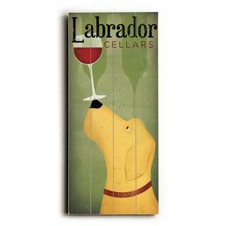 Labrador Wine Dog - Wood Wall Decor by Ryan Fowler