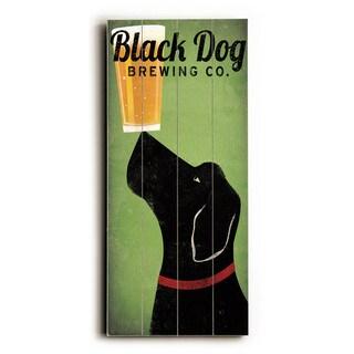 Black Dog Brewing Co - Wood Wall Decor by Ryan Fowler