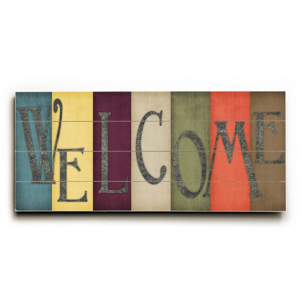 Welcome - Wood Wall Decor by Misty Diller