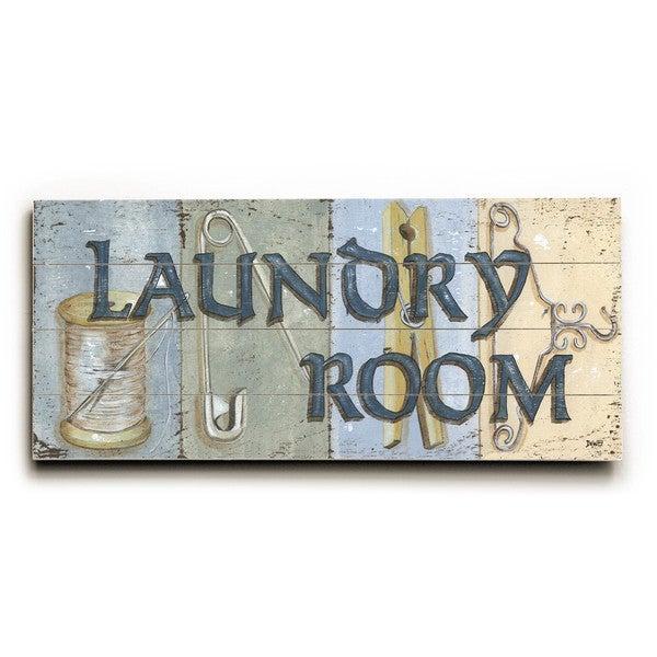 Laundry Room Wood Wall Decor By Debbie Dewitt