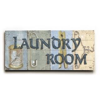 Laundry Room - Wood Wall Decor by Debbie DeWitt