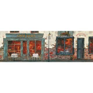 Yosemite Home Decor Cafe Cuba Hand-painted Canvas Wall Art