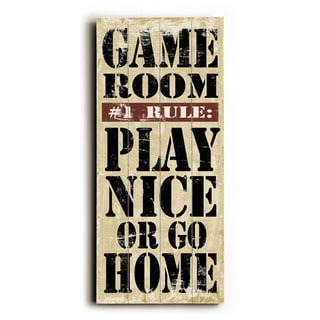 Game Room Rules - Wood Wall Decor by Misty Diller