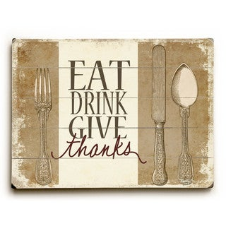 Eat Drink Give Thanks - Wall Decor by Misty Diller