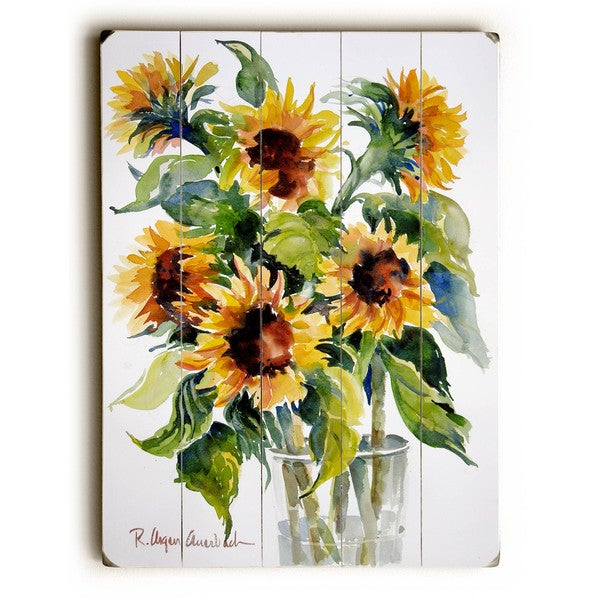 Glass Full Of Sunflowers   Wall Decor By ArtLicensing