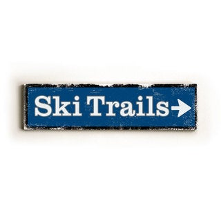 Ski Trails - Wood Sign by Artehouse