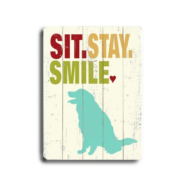 Sit.stay.smile - Wall Decor by Ginger Oliphant - multi