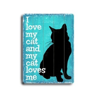 I love my Cat - Wall Decor by Next Day Art