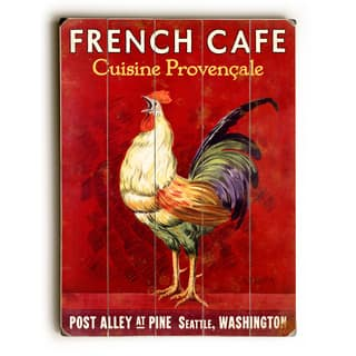 French Café Rooster - Wall Decor by Mondiale - multi