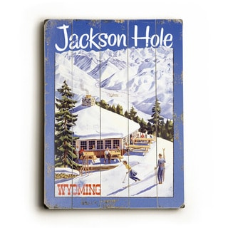 Vintage Ski Lodge Overooking the Mountains - Wall Decor by Posters Please