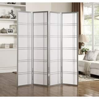 cdc19dad7bfc Buy Silver Room Dividers   Decorative Screens Online at Overstock ...