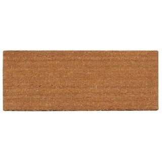 A1HC First Impression PVC Tufted Plain Coir Extra Large Size Doormat with More Clean Area (3' x 6')