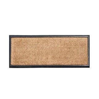 """A1HC First Impression Natural Coir 16"""" X 48"""" Double Doormat"""