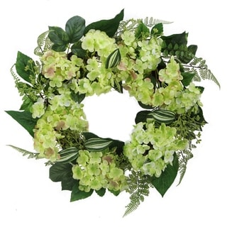 Admired by Nature 24-inch Hydrangea Wreath