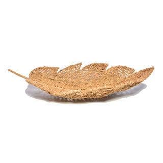 Beige Seagrass Leaf Bowl