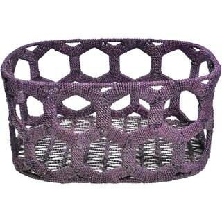 Purple Seagrass Honeycomb Basket
