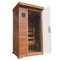 Sedona 1-person Infrared Cedar Sauna with Carbon Heaters, Chromatherapy Lighting, FM Radio with MP3 and Dual Controls