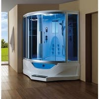 Mesa 702A Satin-finished Acrylic/Brass/Glass Steam Shower