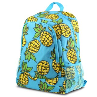 Zodaca Blue/ Yellow Pineapple Large Zipper School Camping Backpack Rucksack