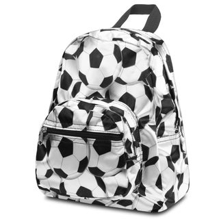 Zodaca Black/ White Soccer Football Small Backpack Rucksack for Kids