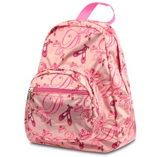 Zodaca Pink Ballerina Small Zipper Backpack Rucksack for Kids